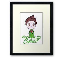 "Nivanfield ""Wanna be my captain?"" ♥ Framed Print"