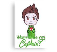 "Nivanfield ""Wanna be my captain?"" ♥ Canvas Print"
