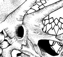 Dotwork Dinosaur Skull Mandala Sticker