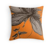 Infinite Kiss - Warhol Collection, Piece 4 (Orange) Throw Pillow