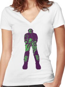 The name's Plissken! Women's Fitted V-Neck T-Shirt