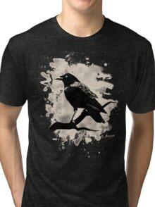 Crow bleached (creme white) Tri-blend T-Shirt