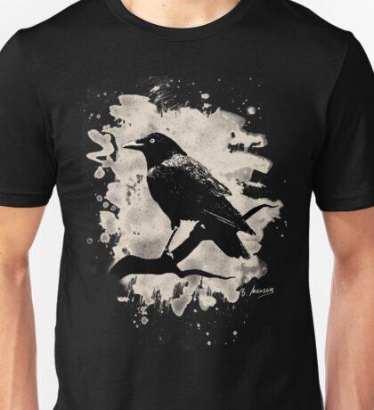 Crow bleached (creme white) Unisex T-Shirt