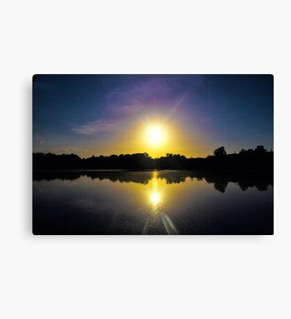 Sunset Over U.E.A Lake, Norwich, England Canvas Print