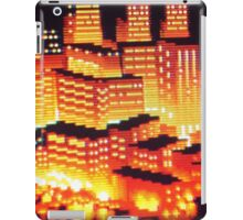 8-bit pixel cityscape iPad Case/Skin