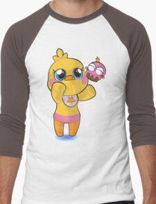 plush toy chica Men's Baseball ¾ T-Shirt