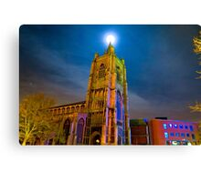 Full Moon Above Church of St Peter Mancroft Canvas Print