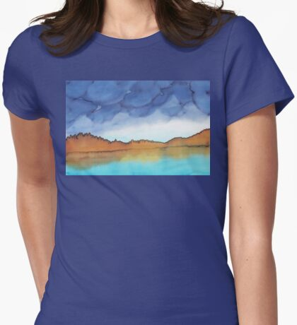 Lake in the Mountains Womens Fitted T-Shirt