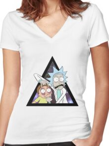 Rick and morty. Women's Fitted V-Neck T-Shirt