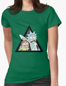 Rick and morty. Womens Fitted T-Shirt