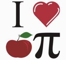 I Heart Apple Pi One Piece - Short Sleeve