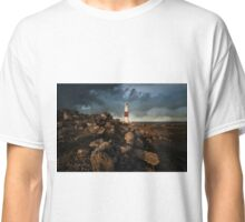 Red And White Lighthouse Of Lizard Classic T-Shirt
