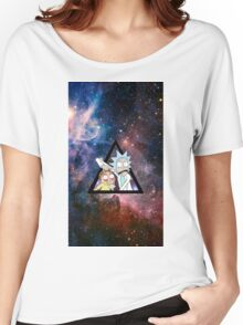 rick and morty in space. Women's Relaxed Fit T-Shirt
