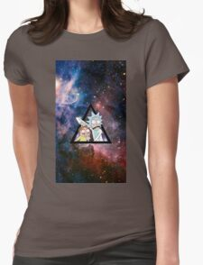rick and morty in space. Womens Fitted T-Shirt