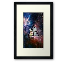 rick and morty in space. Framed Print
