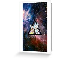 rick and morty in space. Greeting Card