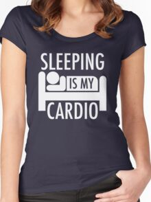 Sleeping Is My Cardio Women's Fitted Scoop T-Shirt