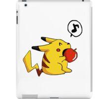 Little Pikachu with apple! iPad Case/Skin
