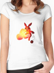Tepig Women's Fitted Scoop T-Shirt