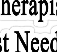 I Don't Need A Therapist I Just Need My Sheep  Sticker