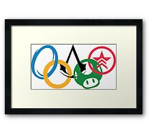 Gamer Olympics Framed Print