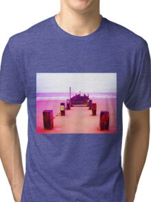 Out to Sea- Magenta Tri-blend T-Shirt