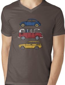 Vintage Volkswagen Family Mens V-Neck T-Shirt