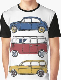Vintage Volkswagen Family Graphic T-Shirt