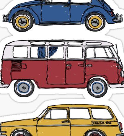 Vintage Volkswagen Family Sticker