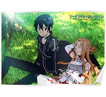 Asuna and Kirito, from Sword Art Online Poster