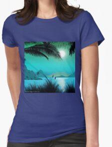 Hawaiian Islands Womens Fitted T-Shirt