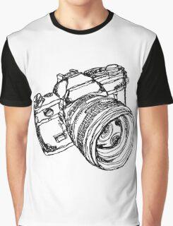 Vintage 35mm SLR Camera Design Graphic T-Shirt