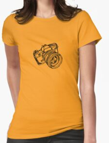 Vintage 35mm SLR Camera Design Womens Fitted T-Shirt