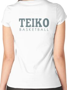 Teiko Basketball Women's Fitted Scoop T-Shirt