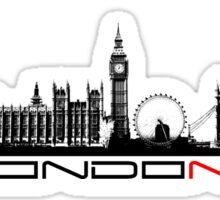 London skyline city  Sticker