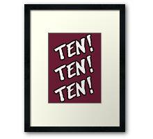 Ten! Ten! Ten! Tye Dillinger  Framed Print