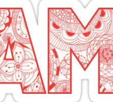 University of Alabama doodle Sticker