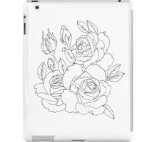 Rose Outline iPad Case/Skin