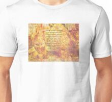 Shakespeare all the worlds a stage quote Unisex T-Shirt