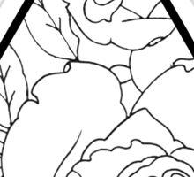 Rose Triangle Sticker