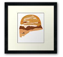 ships and sunset Framed Print