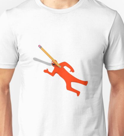 Pencil Holder Gone Wrong Bloodless Unisex T-Shirt