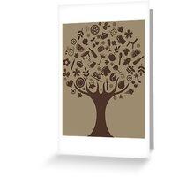 Tree of Symbols Greeting Card