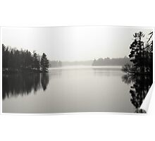 Foggy Winter Lake Poster