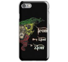 Reggae Rasta Iron, Lion, Zion 4 iPhone Case/Skin