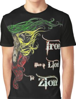 Reggae Rasta Iron, Lion, Zion 4 Graphic T-Shirt