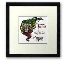 Reggae Rasta Iron, Lion, Zion 4 Framed Print