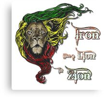 Reggae Rasta Iron, Lion, Zion 4 Canvas Print