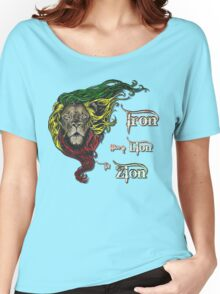 Reggae Rasta Iron, Lion, Zion 4 Women's Relaxed Fit T-Shirt