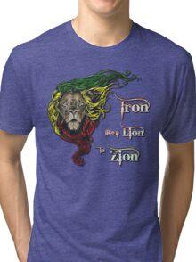 Reggae Rasta Iron, Lion, Zion 4 Tri-blend T-Shirt